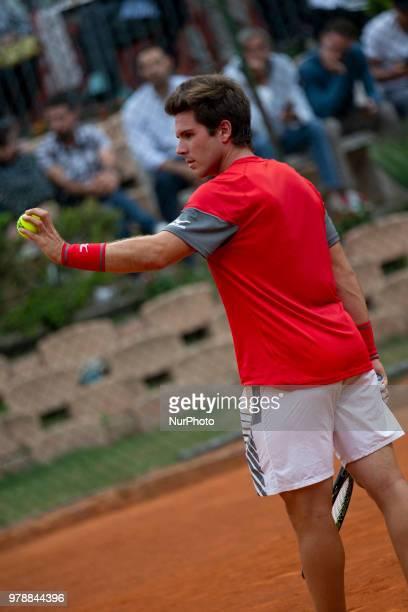 Carlos Boluda-Purkiss during match between Carlos Boluda-Purkiss and Paolo Lorenzi during day 4 at the Internazionali di Tennis Citt dell'Aquila in...