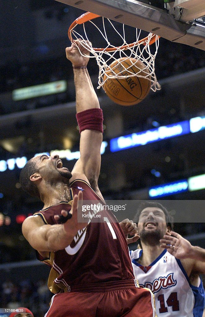 Carlos Boozer of the Cleveland Cavaliers dunks during the ...