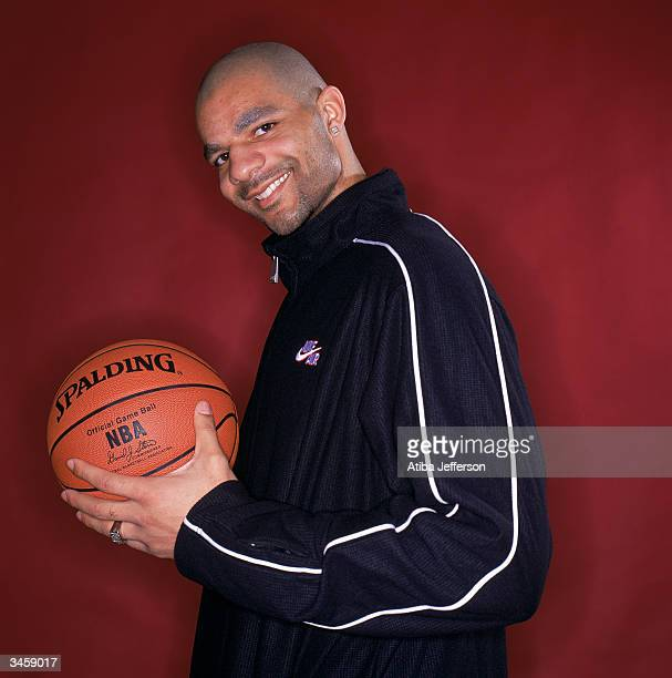 Carlos Boozer of the Cleveland Cavaliers poses for a portrait during the 2004 NBA AllStar Weekend on February 13 2004 in Los Angeles California NOTE...