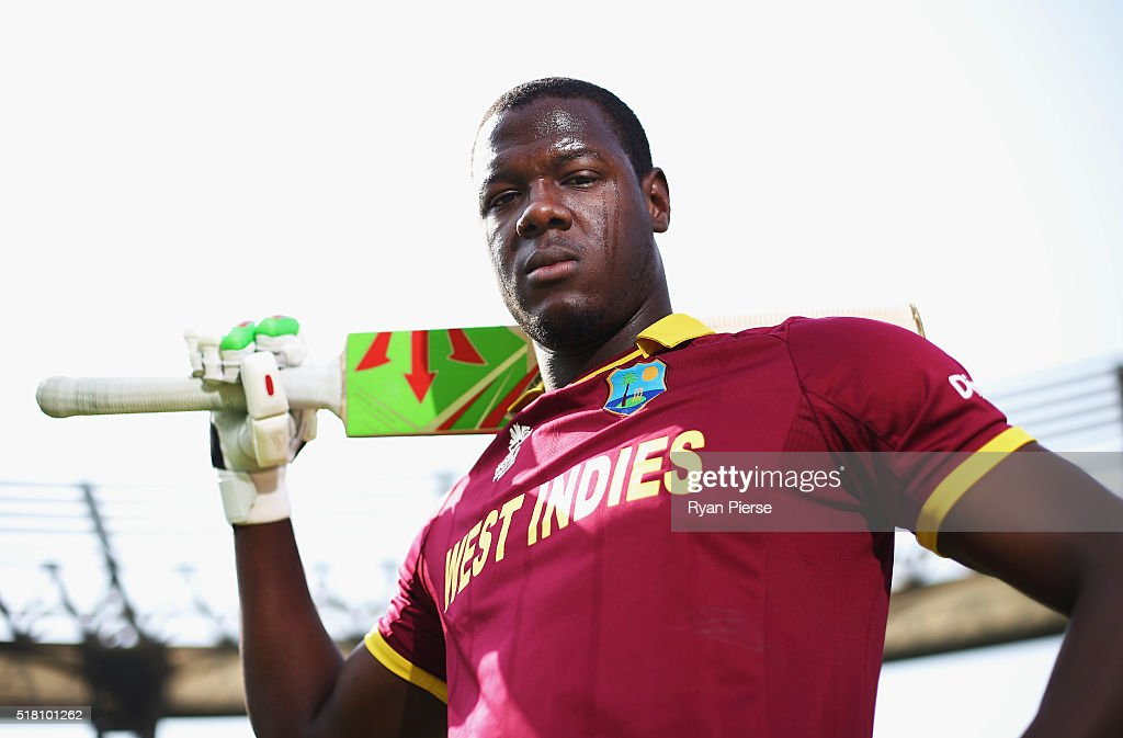 Carlos Brathwaite Of The West Indies Poses Before A Training Session At Wankhede Stadium