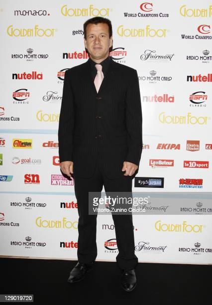 Carlos Caetano Bledorn Verri aka Dunga attend the Golden Foot Ceremony Awards on October 10 2011 in Monaco Monaco