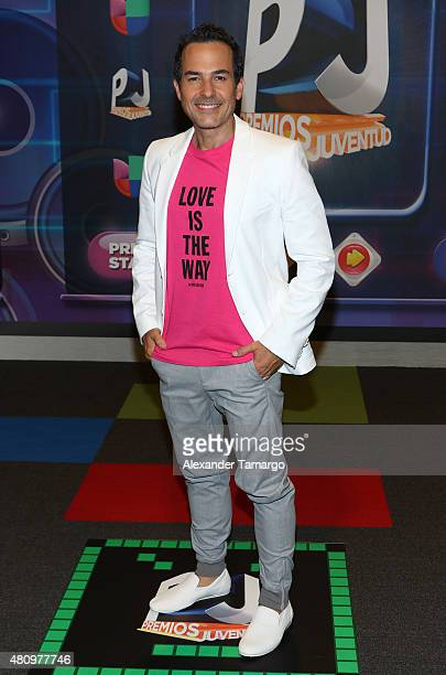 Carlos Calderon is seen arriving at Univision's Premios Juventud 2015 at the Bank United Center on July 16 2015 in Miami Florida