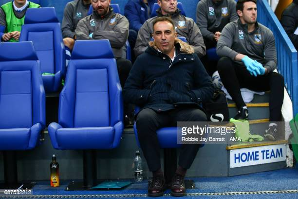 Carlos Carvalhal manager / head coach of Sheffield Wednesday during the Sky Bet Championship match between Sheffield Wednesday and Huddersfield Town...