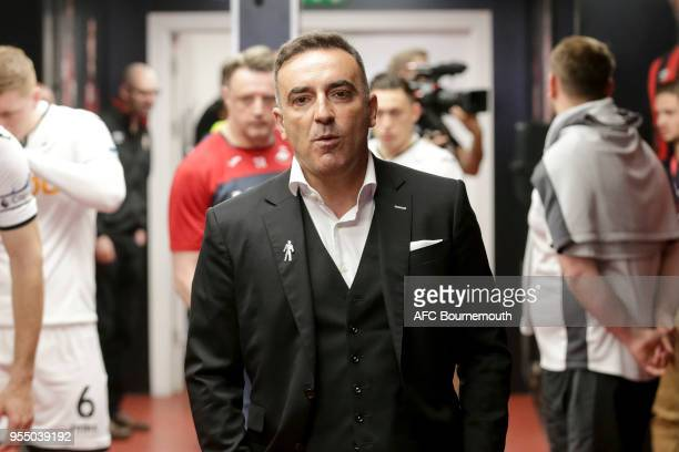 Carlos Carvalhal manager of Swansea City in the home tunnel before the Premier League match between AFC Bournemouth and Swansea City at Vitality...