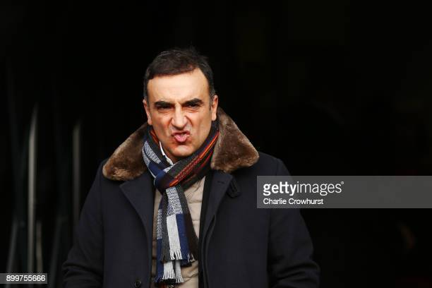 Carlos Carvalhal Manager of Swansea City looks on prior to the Premier League match between Watford and Swansea City at Vicarage Road on December 30...