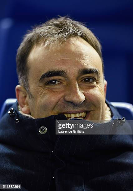 Carlos Carvalhal of Sheffield Wednesday looks on during the Sky Bet Championship match between Sheffield Wednesday and Queens Park Rangers at...