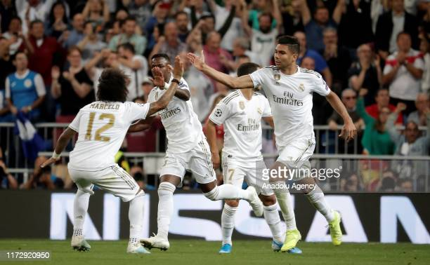 Carlos Casemiro of Real Madrid celebrates after scoring a goal during the UEFA Champions League group A match between Real Madrid and Club Brugge KV...