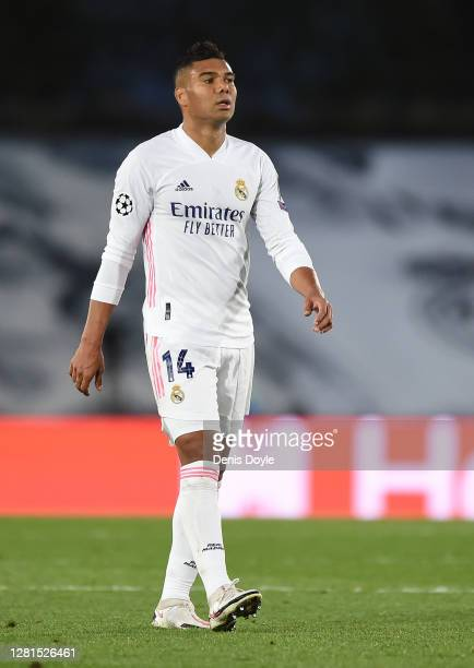 Carlos Casemiro of Real Madrid CF looks on during the UEFA Champions League Group B stage match between Real Madrid and Shakhtar Donetsk at Estadio...