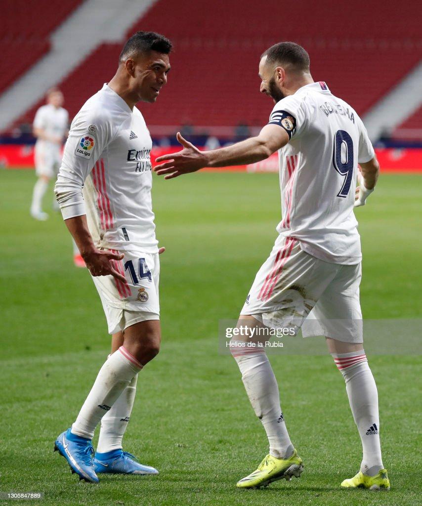 Atletico de Madrid v Real Madrid - La Liga Santander : Nachrichtenfoto