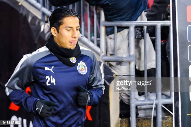 Carlos Cisneros before the 2018 CONCACAF Champions League Final match between Toronto FC and CD Chivas Guadalajara at BMO Field in Toronto Canada on...