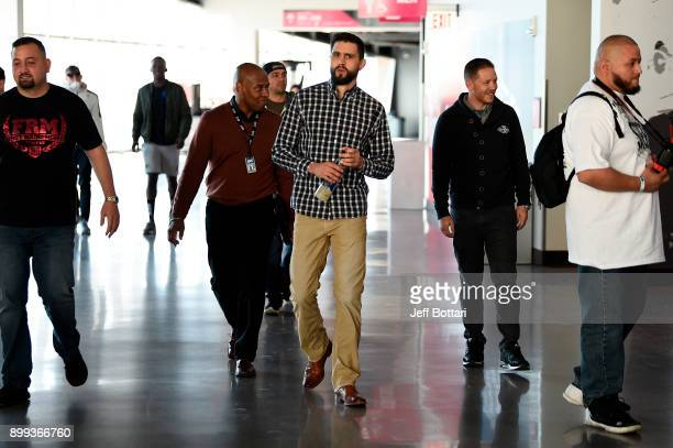Carlos Condit arrives during the UFC 219 Ultimate Media Day inside TMobile Arena on December 28 2017 in Las Vegas Nevada