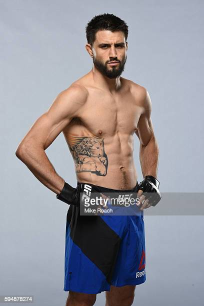 Carlos Condit poses for a portrait during a UFC photo session at the Hyatt Regency Vancouver on August 24 2016 in Vancouver Canada
