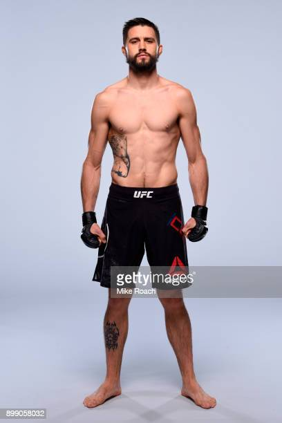 Carlos Condit poses for a portrait during a UFC photo session on December 27 2017 in Las Vegas Nevada