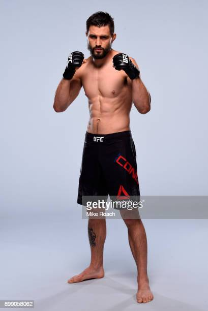 Carlos Condit poses for a portrait during a UFC photo session on December 27, 2017 in Las Vegas, Nevada.