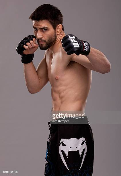 Carlos Condit poses for a portrait on February 1 2012 in Las Vegas Nevada