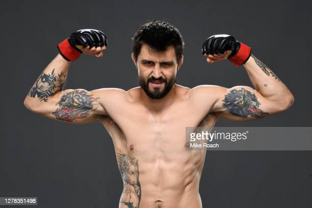 Carlos Condit poses for a post fight portrait backstage during the UFC Fight Night event inside Flash Forum on UFC Fight Island on October 04, 2020...