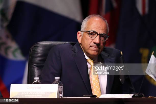 Carlos Cordeiro Concacaf Council Member looks on during the CONCACAF 34th Ordinary Congress at Chelsea Theater on March 28 2019 in Las Vegas Nevada