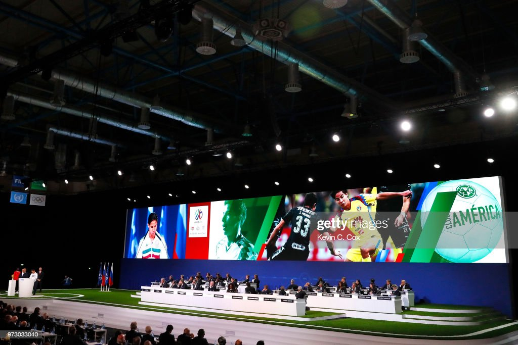 Carlos Cordeiro, president of the United States Football Association addresses the 68th FIFA Congress after the announcement of the host for the 2026 FIFA World Cup went to United 2026 bid (Canada-Mexico-USA) at Moscow's Expocentre on June 13, 2018 in Moscow, Russia.