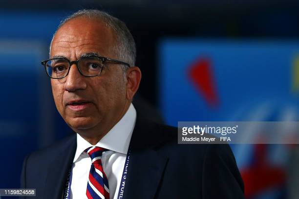 Carlos Cordeiro President of the US Soccer Federation looks on before the 2019 FIFA Women's World Cup France Semi Final match between England and USA...