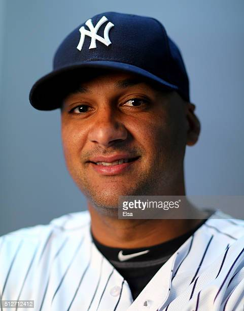 Carlos Corporan of the New York Yankees poses for a portrait on February 27 2016 at George M Steinbrenner Stadium in Tampa Florida