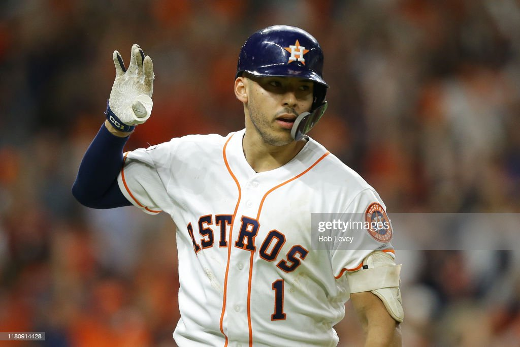 League Championship Series - New York Yankees v Houston Astros - Game Two : News Photo