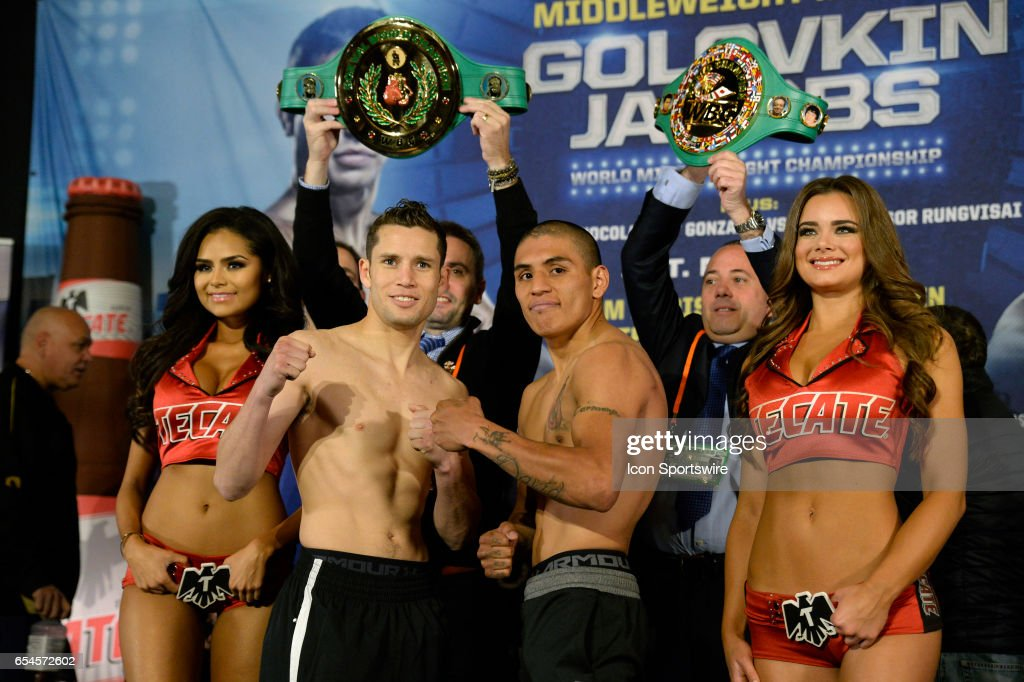 BOXING: MAR 17 Golovkin v Jacobs Weigh-in : News Photo
