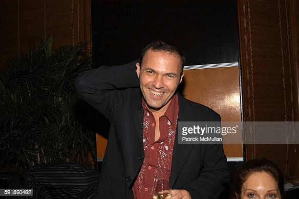 Carlos Davalos attends Perrier Jouet Dinner at The Raleigh Hotel on October 21, 2005.
