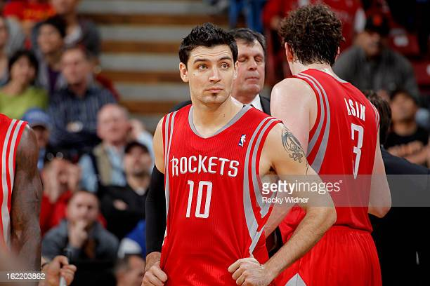 Carlos Delfino of the Houston Rockets in a game against the Sacramento Kings on February 10 2013 at Sleep Train Arena in Sacramento California NOTE...