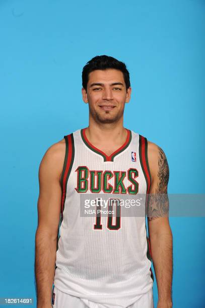 Carlos Delfino of the Milwaukee Bucks poses for a portrait during media day on September 30 2013 at the Bucks Training Center in St Francis Wisconsin...