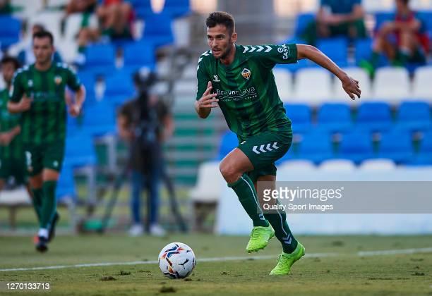 Carlos Delgado of Castellon in action during a Pre-Season friendly match between Mallorca and Castellon at Pinatar Arena on September 01, 2020 in...
