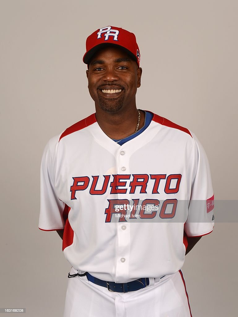 Carlos Delgado #21 of Team Puerto Rico poses for a headshot for the 2013 World Baseball Classic at the City of Palms Baseball Complex on Monday, March 4, 2013 in Fort Myers, Florida.