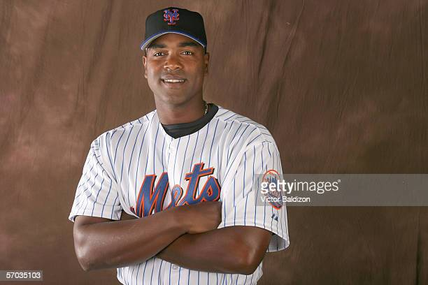 Carlos Delgado of the Mets poses for a portrait during the New York Mets photo day on February 24 2006 at Tradition Field in Port St Lucie Florida