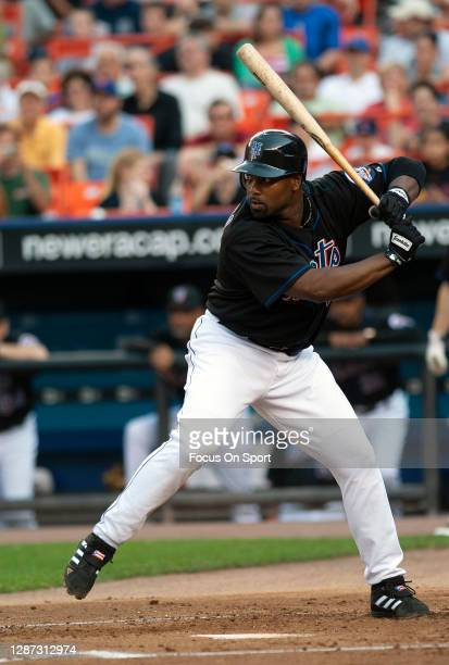 Carlos Delgado of the New York Mets bats against the Baltimore Orioles during an Major League Baseball game June 17, 2006 at Citi Field in the Queens...