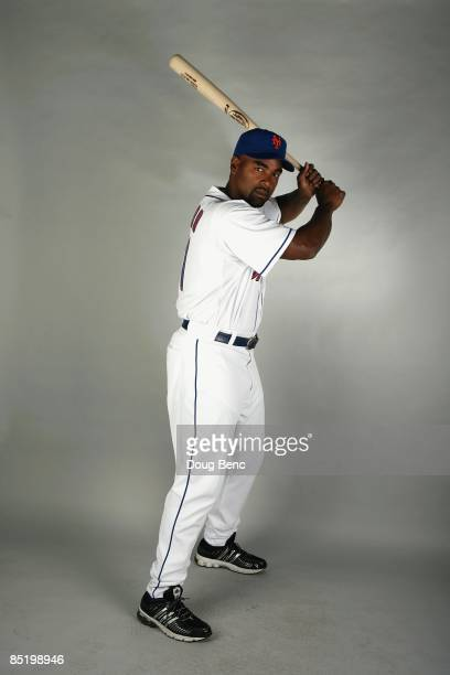 Carlos Delgado of the New York Mets poses during photo day at Tradition Field on February 23, 2009 in Port Saint Lucie, Florida.
