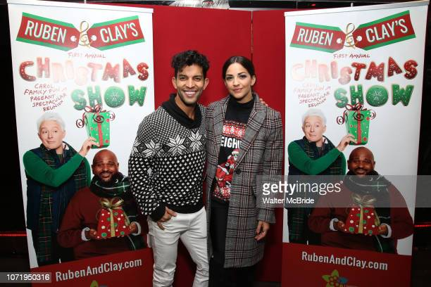 Carlos E Gonzalez and Ana Villafane attend the Opening Night After Party for 'Ruben Clay's First Annual Christmas Show' on December 11 2018 at The...