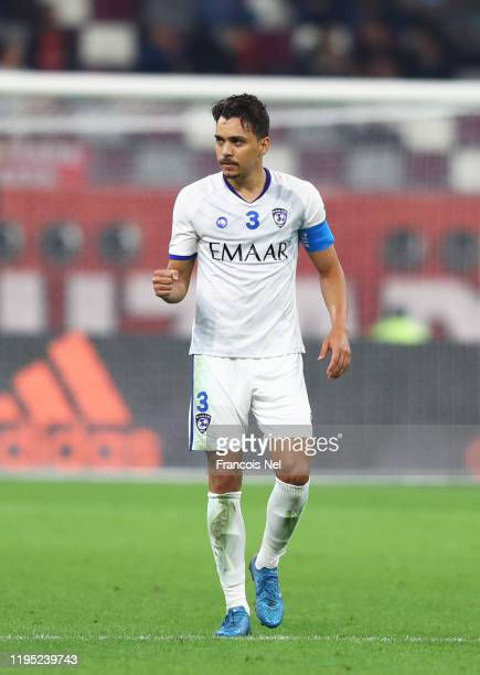Carlos Eduardo of Al Hilal FC celebrates after scoring his sides first goal during the FIFA Club World Cup Qatar 2019 3rd place match between...