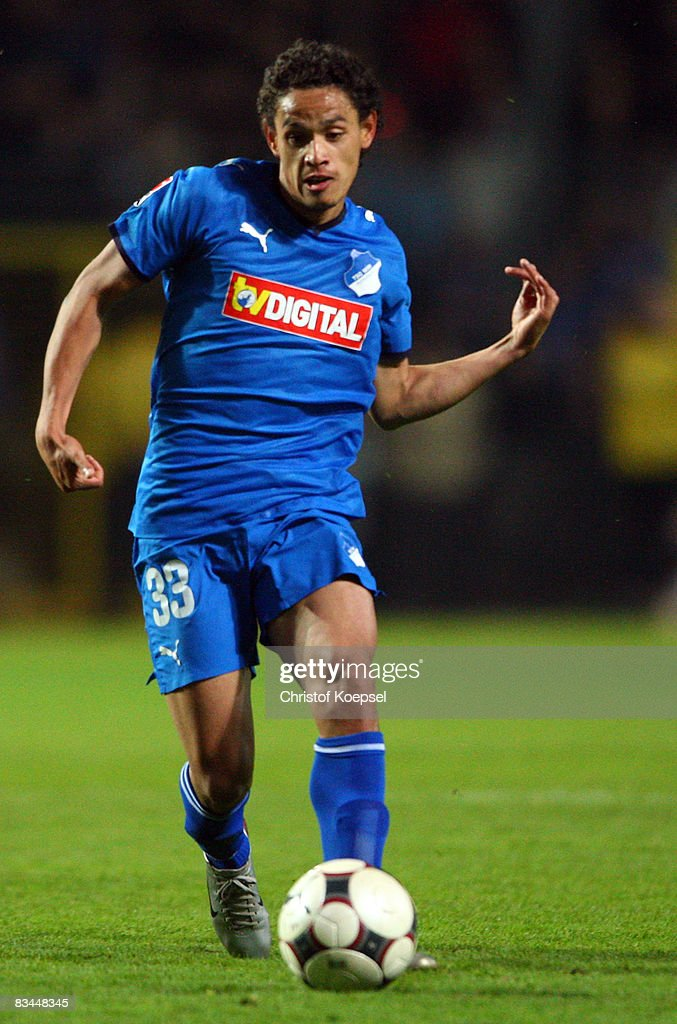 Carlos Eduardo of Hoffenheim runs with the ball during the Bundesliga match between 1899 Hoffenheim and Hamburger SV at the Carl-Benz-Stadium on October 26, 2008 in Mannheim, Germany.