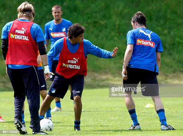 Carlos Eduardo reacts during a training session of 1899 Hoffenheim during a training camp on July 1, 2009 in Stahlhofen am Wiesensee, Germany.