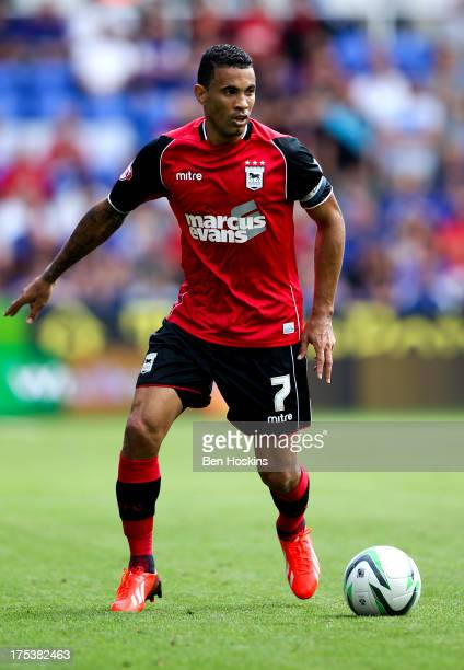Carlos Edwards of Ipswich in action during the Sky Bet Championship match between Reading and Ipswich Town at the Madejski Stadium on August 03 2013...
