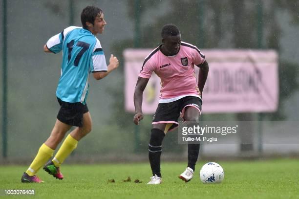 Carlos Embalo of Palermo scores a goal during the preseason friendly match between US Citta' di Palermo and Rappresentativa Sappada at the US Citta'...