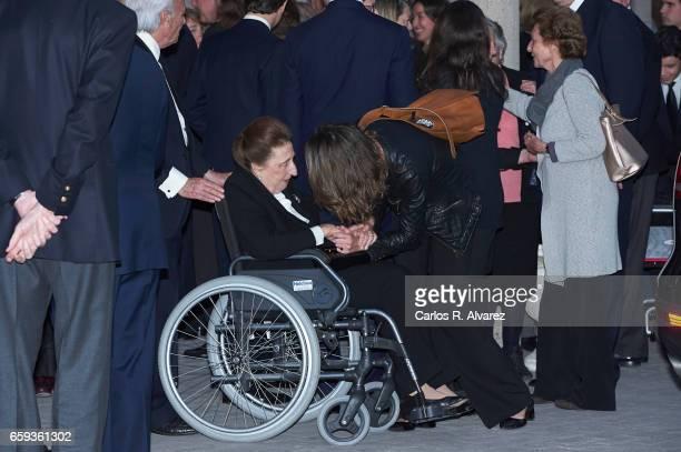Carlos Emilio Juan Zurita and Princess Margarita de Borbon attend a funeral chapel for Alicia de Borbon Parma Duchess of Calabria at La Paz morgue on...