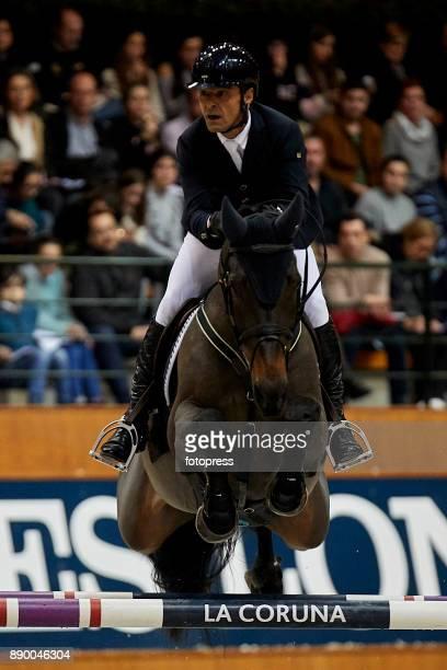 Carlos Enrique Lopez Lizarazo attends during CSI Casas Novas Horse Jumping Competition on December 10 2017 in A Coruna Spain