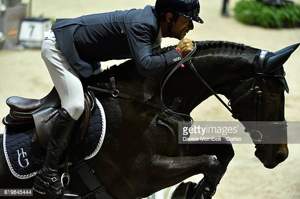 Carlos Enrique of Colombia rides Admara during the Grand Prix Longines FEI World Cup by GL Events at in the EQUITA Lyon France Photo by Davide...