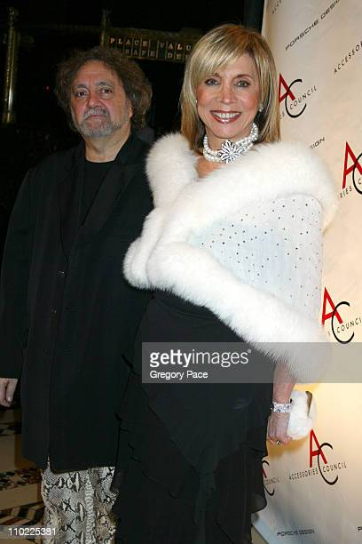 Carlos Falchi and Emily Block during The Accessories Council Presents the 8th Annual Ace Awards at Cipriani 42nd Street in New York City New York...