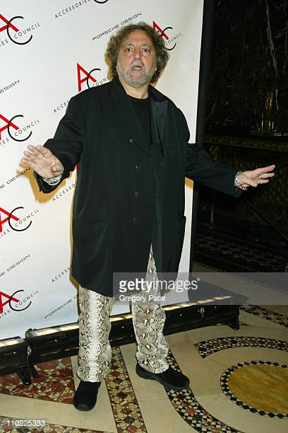 Carlos Falchi during The Accessories Council Presents the 8th Annual Ace Awards at Cipriani 42nd Street in New York City New York United States