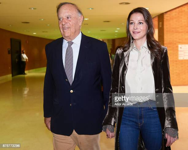 Carlos Falco and Ester Dona attends a guide tour inside the stables prior to the SICAB Closing Gala 2017 on November 18 2017 in Seville Spain