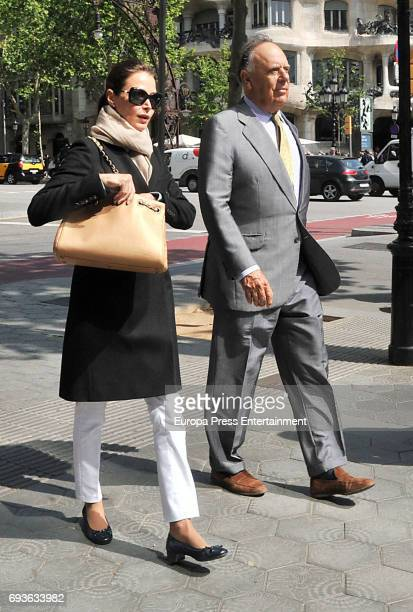 Carlos Falco and Esther Doña are seen on April 25 2017 in Barcelona Spain