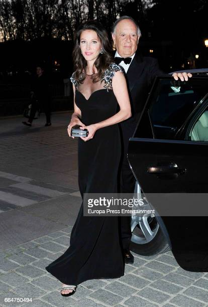 Carlos Falco and Esther Doña attend the Global Gift Gala 2017 at Royal Theatre on April 4 2017 in Madrid Spain
