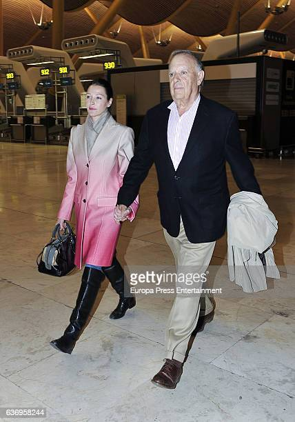 Carlos Falco and Esther Dona are seen on December 12, 2016 in Madrid, Spain.