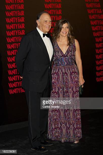 "Carlos Falco and Sandra Falco attend ""Man of the Year"" award 2012 by Vanity Fair magazine at Italian Embassy on September 17, 2012 in Madrid, Spain."